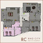 icon b&b rho city map - pink double room