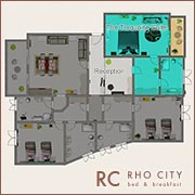 icon b&b rho city map - turquoise suite room